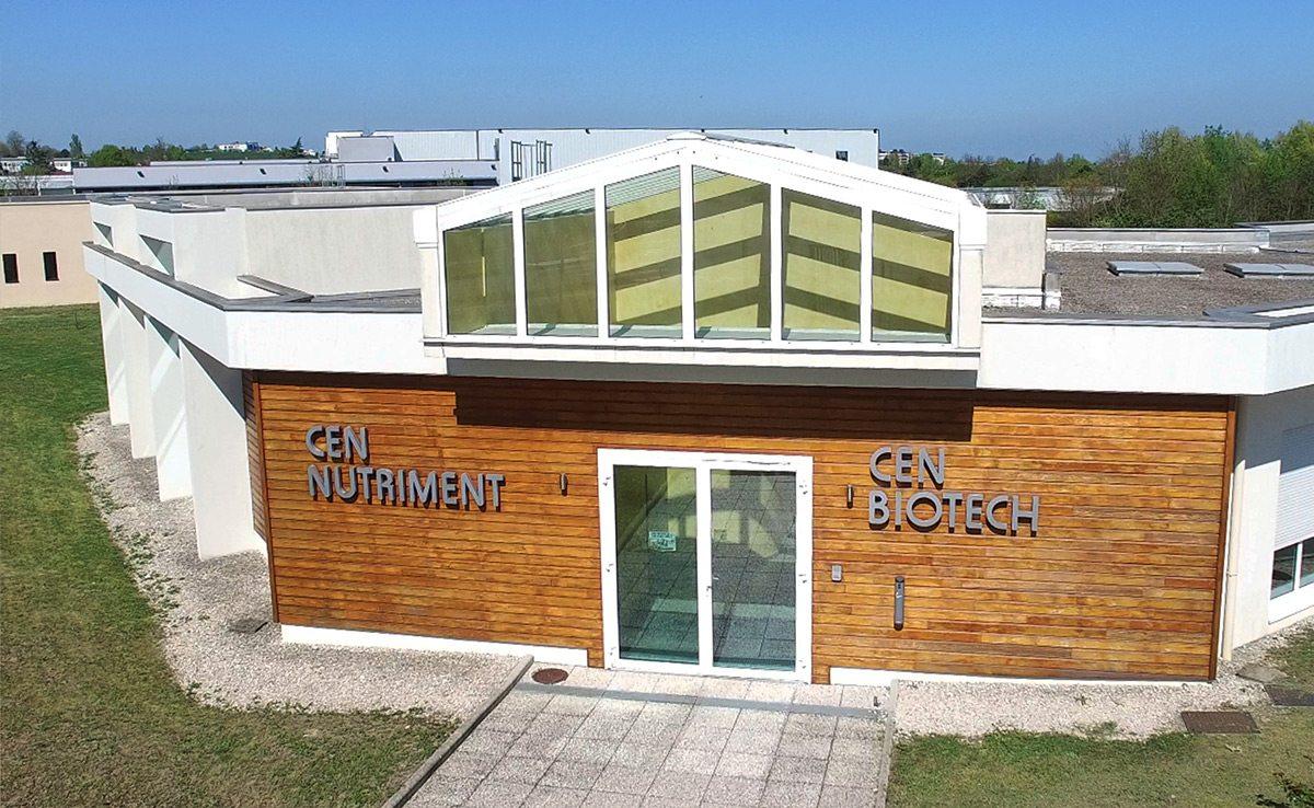 Bâtiment de l'entreprise CEN Biotech situé à Dijon